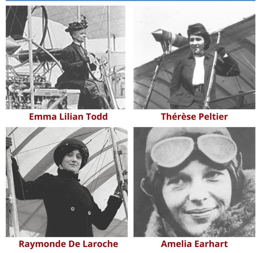 Les femmes qui ont marqué l'histoire de l'aviation