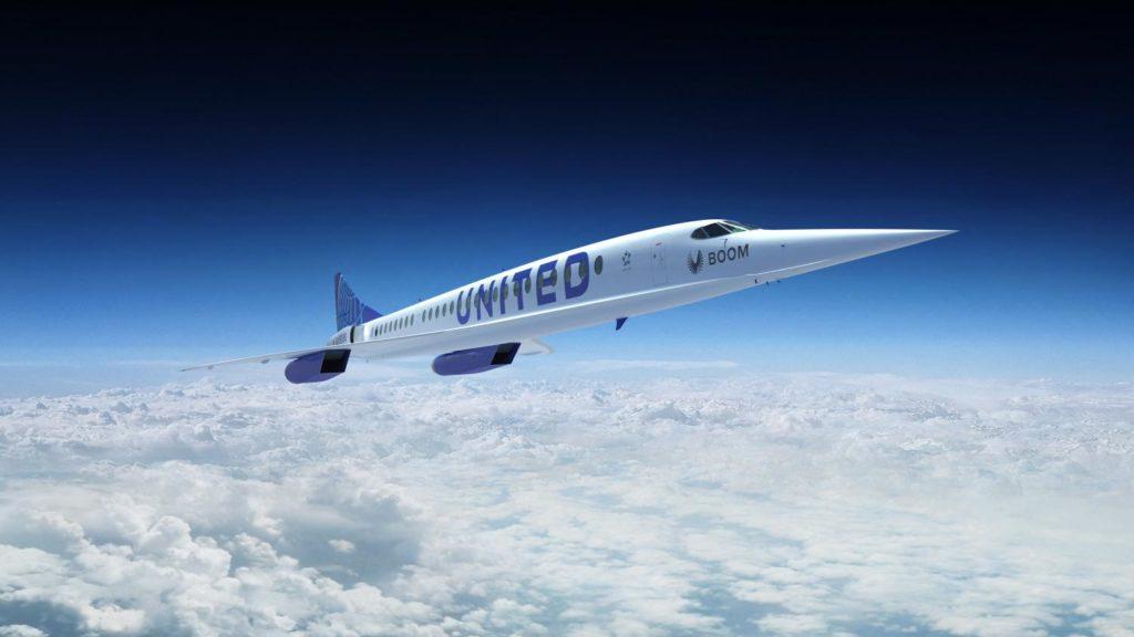 avions supersoniques United Airlines