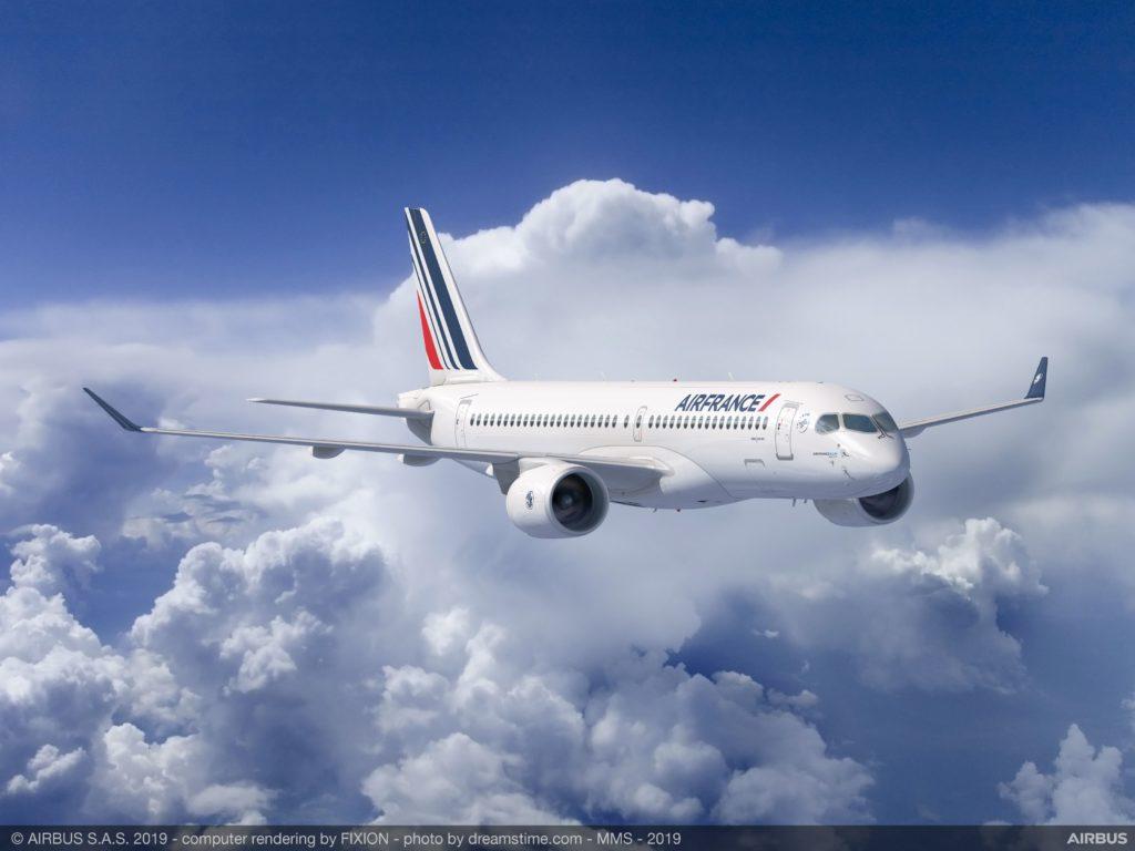 premier Airbus A220 Air France